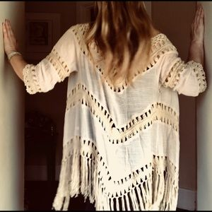 Vintage BoHo crochet cardigan. Size medium